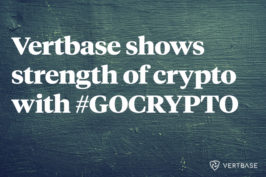 Vertbase shows the strength of crypto with GOCRYPTO giveaway campaign