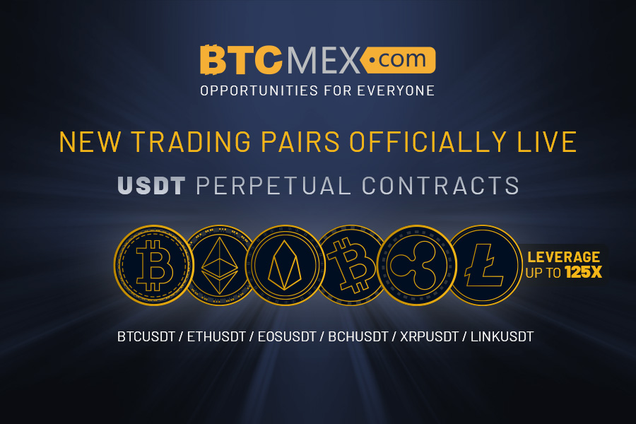 BTCMEX launches 125X USDT Perpetual Contracts with 6 new trading pairs